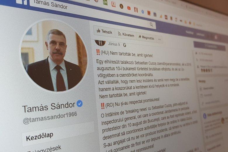Már a magyar nyelvű Facebook-oldal miatt is jelentget Dan Tanasă