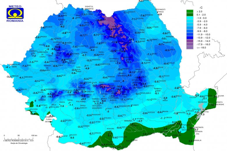 Faggyal köszöntött be az április, mínusz 11 Celsius-fok volt Csíkszeredában