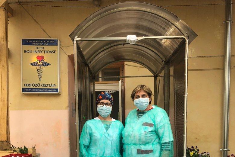 Fertőtlenítő alagutat kapott adományba a csíkszeredai kórház