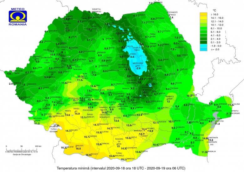 Fagypont alatti hőmérséklet Csíkszeredában, ennél ma sehol nem volt hidegebb az országban