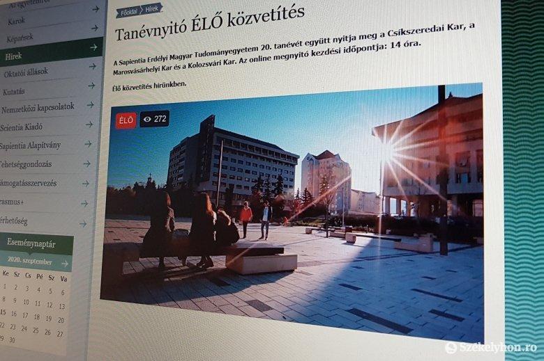 Online kezdődött a húszéves erdélyi magyar tudományegyetem idei éve
