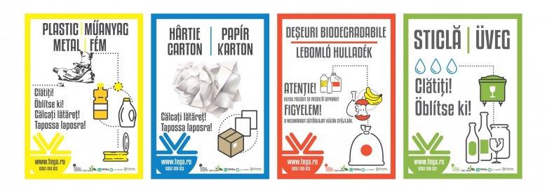 Külön gyűjtik Sepsiszentgyörgyön a műanyag- és a papírhulladékot