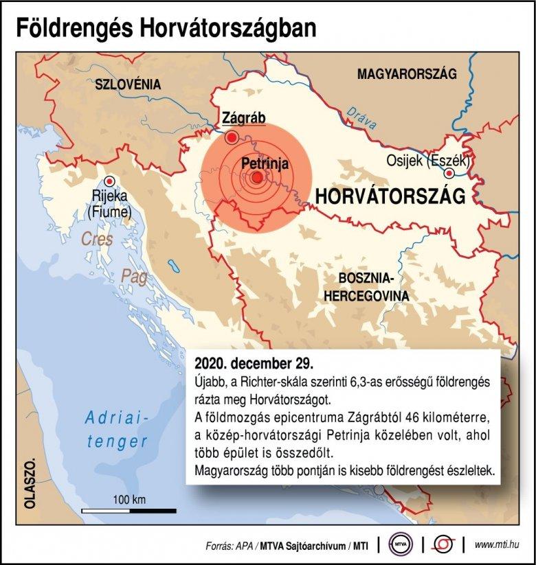 FRISSÍTVE – Ismét rengett a föld Horvátországban: épületek dőltek össze, egy gyermek is van az áldozatok között