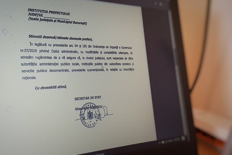 Belügyminisztériumi felszólítás a prefektusoknak, hogy figyeljenek a kisebbségi jogok betartására
