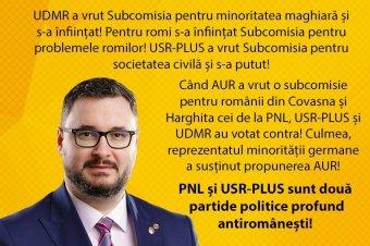 Elbukott a Dan Tanasă által elnökölt, székelyföldi románok ügyét vizsgáló parlamenti albizottság létrehozása