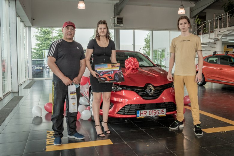 Sepsiszentgyörgyre került a Renault nyereményautója (x)
