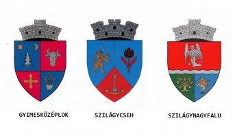 Gyimesközéplok, Szilágynagyfalu és Szilágycseh címerét hivatalosította a kormány