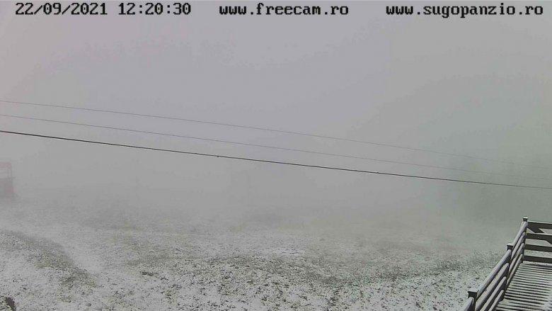 Mínuszokat mértek és havazott is szerda reggel Hargita megyében