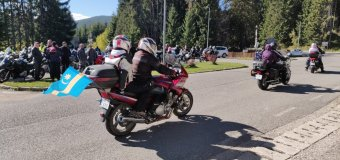 Szezonzárást tartottak a motorosok Hargitafürdőn