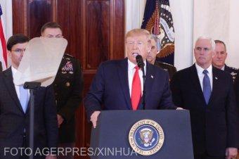 Trump azonnali gazdasági szankciókat jelentett be Irán ellen, és aktívabb szerepre szólította a NATO-t