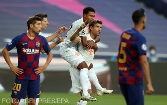Pusztító csapás a BL-ben: a Bayern nyolccal küldte haza a Barcelonát, de Setién nem mondott le