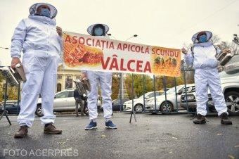 A piacok újranyitását kérték a kormánypalota előtt tüntető őstermelők