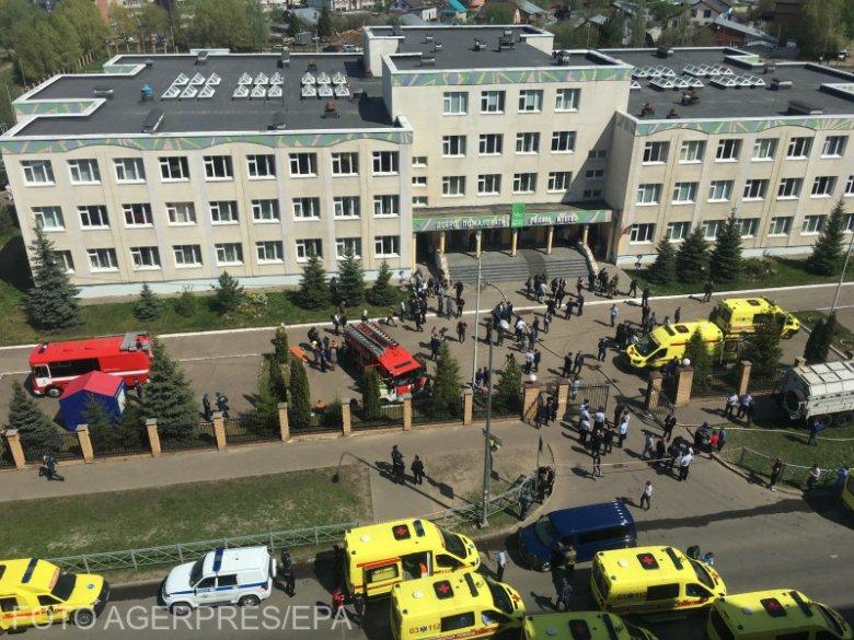 Véres merénylet Oroszországban, gyerekeket mészároltak le egy kazanyi iskolánál