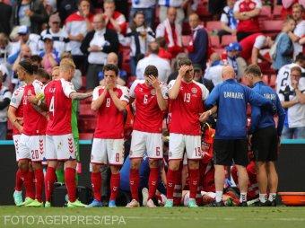 Futball Eb: összeesett, újra kellett éleszteni a dánok legjobbját a finnek elleni meccsen