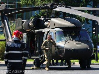 Villanypóznákat is kidöntött a Bukarest forgalmas részén kényszerleszállást végrehajtó amerikai helikopter