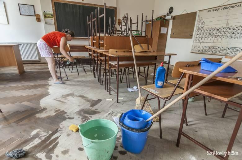 Sokkal többtakarítóra lenne szükség a székelyföldi iskolákban, a járványügyi előírások csak fokozzák a hiányt