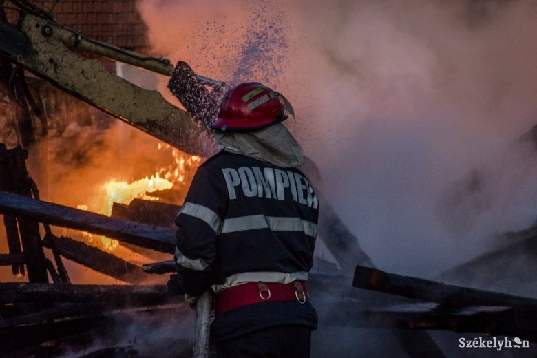 Tűz ütött ki Homoródfürdőn, életét vesztette egy férfi