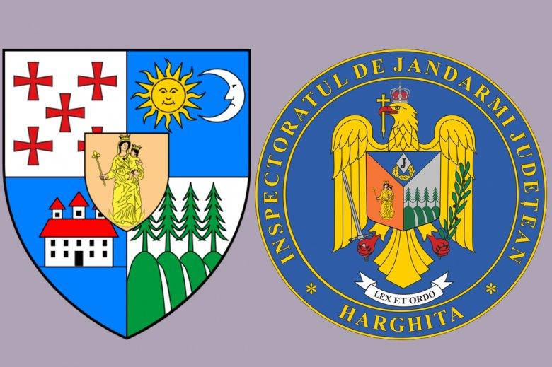 A Jézust karjában tartó Szűz Mária és az erdők is bekerültek a Hargita megyei csendőrség új címerébe
