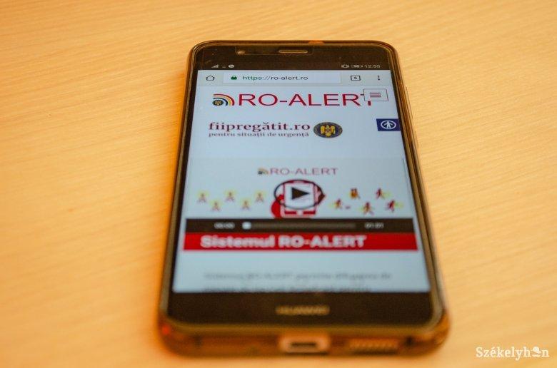 RO-Alerten keresztül figyelmeztették az embereket a vírusveszélyre