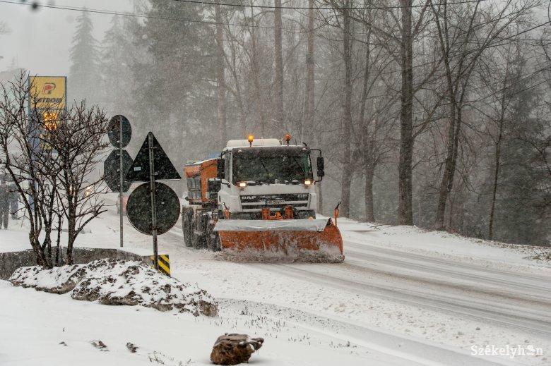 Nem okoztak fennakadásokat az elmúlt napok havazásai Hargita megyében