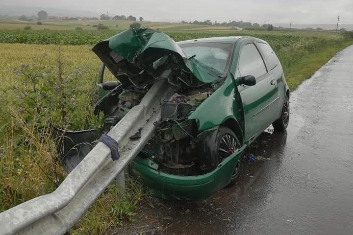 Súlyosnak tűnő baleset, de szerencsére megúszta