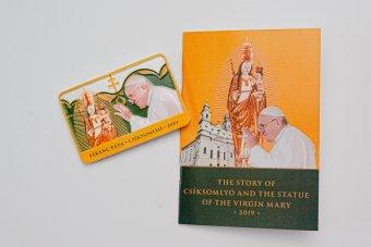 Hűtőmágnes Ferenc pápa csíksomlyói látogatására