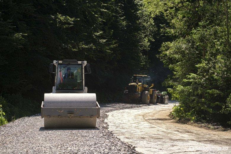 Zajlik a Hargitafürdőre vezető megyei útszakasz teljes felújítása