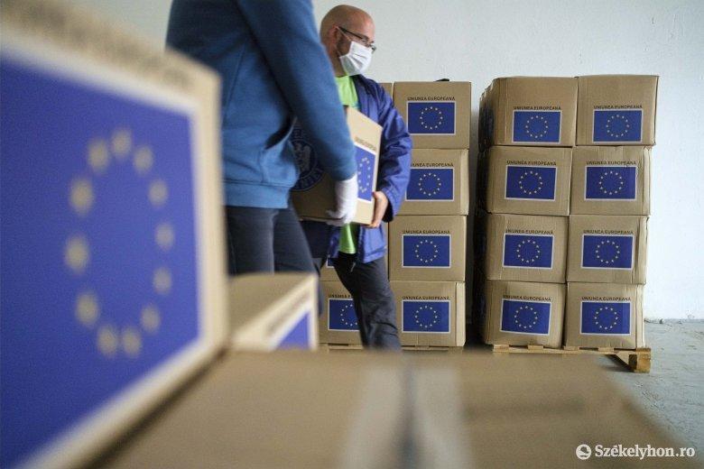 Szerdáig osztják az uniós csomagokat Csíkszeredában