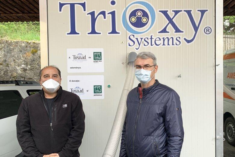 Ózongenerátorral támogatták a Hargita Megyei Mentőszolgálatot