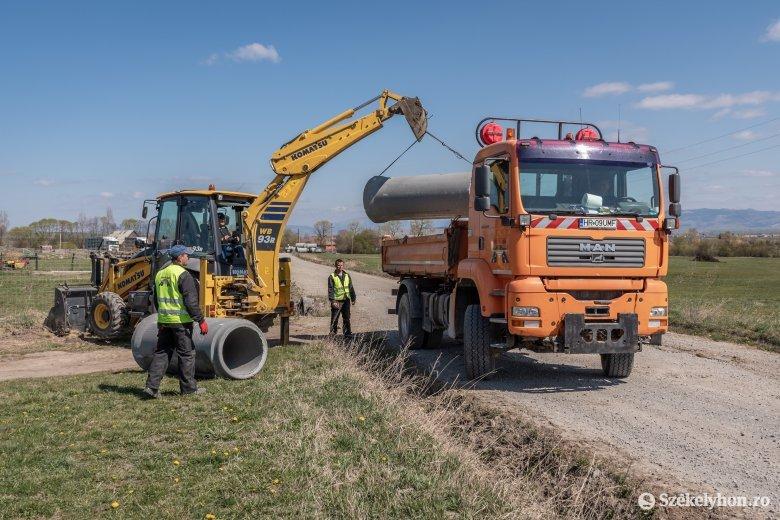 Útfelújítás az elhúzódott előkészületek után Csiba és Oltfalu között