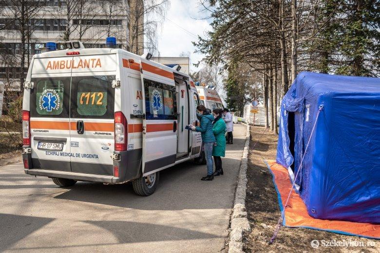 Több mint ötven koronavírus-fertőzött személyt ápolnak a csíkszeredai kórházban