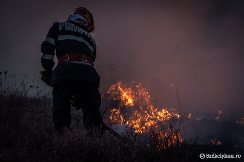 Két helyen is égett a száraz aljnövényzet Csíkszéken
