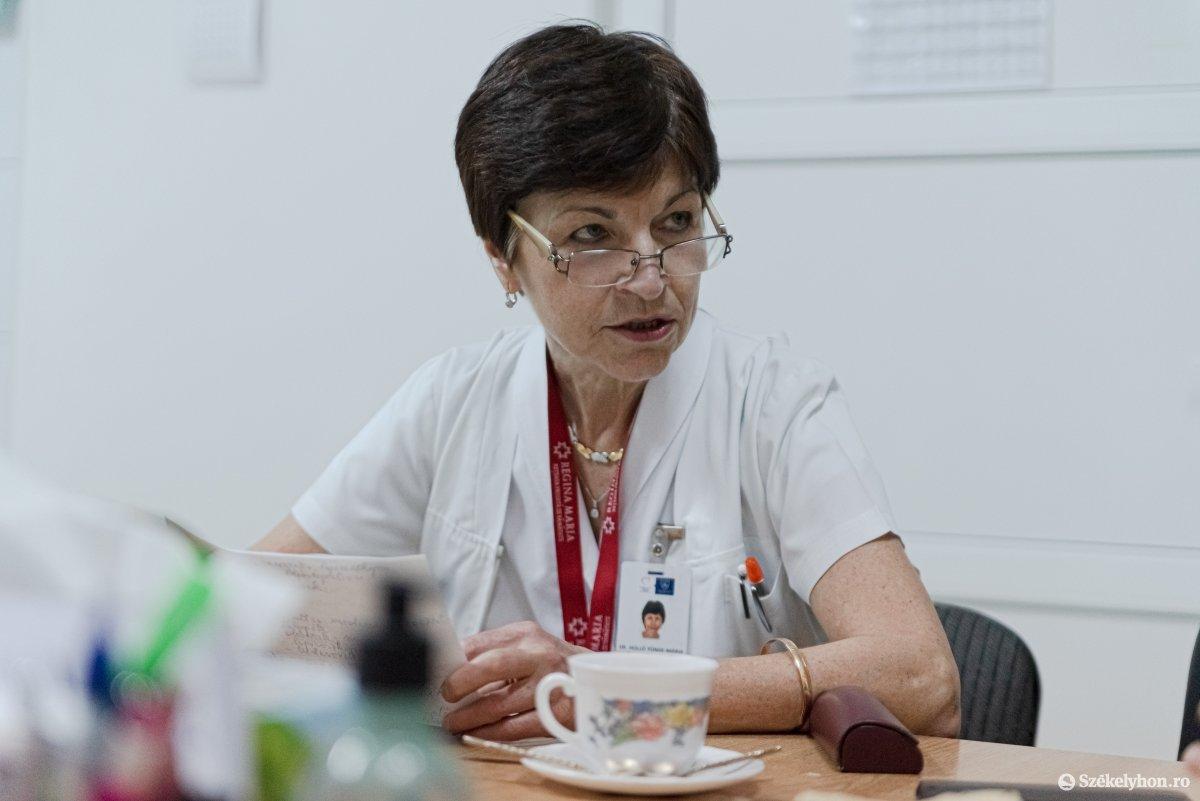 Holló Tünde szülészeti-nőgyógyászati osztály főorvosa •  Fotó: Gábos Albin