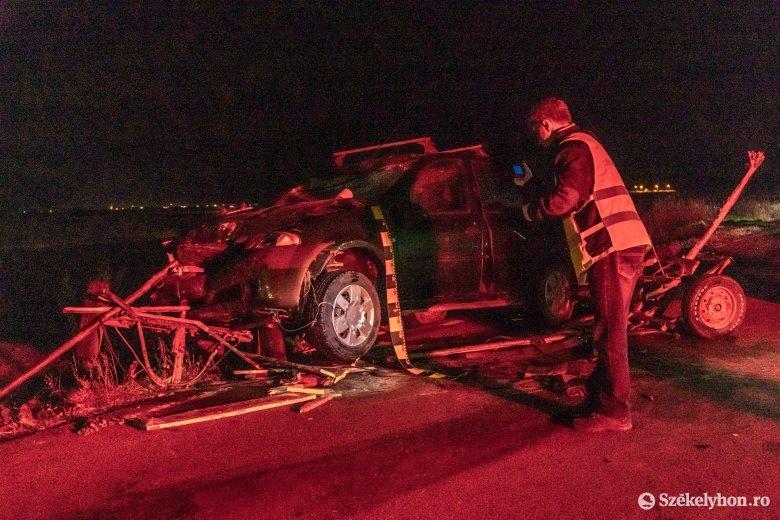 Szekérrel ütközött egy autó a csíkszeredai kerülőúton