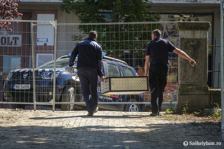 Páncéltörő lövedéket találtak egy csíkszeredai iskola udvarán