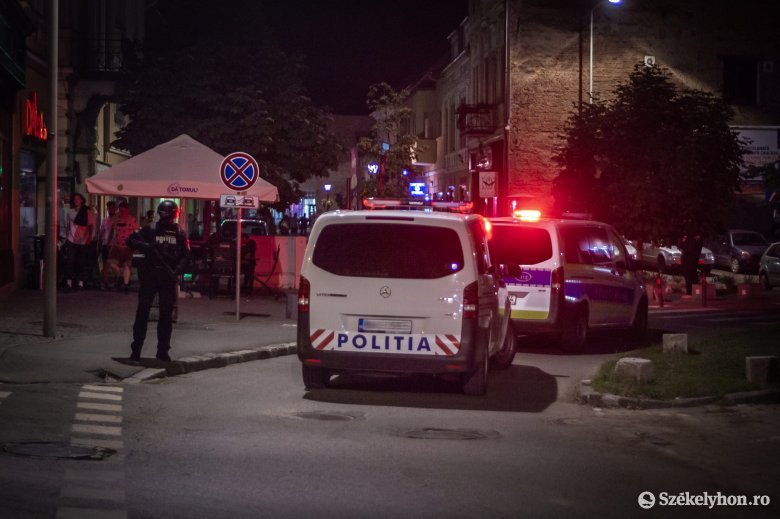 Nagy erőkkel vonult ki a rendőrség különleges bevetési egysége Csíkszereda központjába