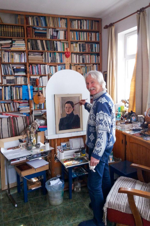 Egy nap se múljék el vonás nélkül: a világjárványban is megtalálta a lehetőséget Balázs József festőművész