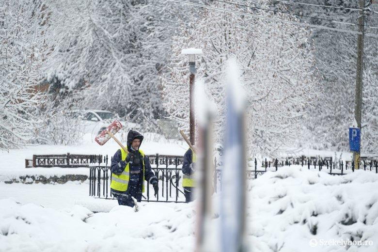 Havazásra, jegesedésre figyelmeztetnek a meteorológusok