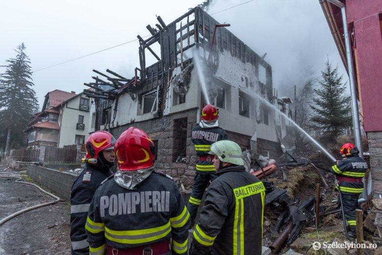 Tűzzel játszó gyerekek miatt éghetett le a tusnádfürdői épület