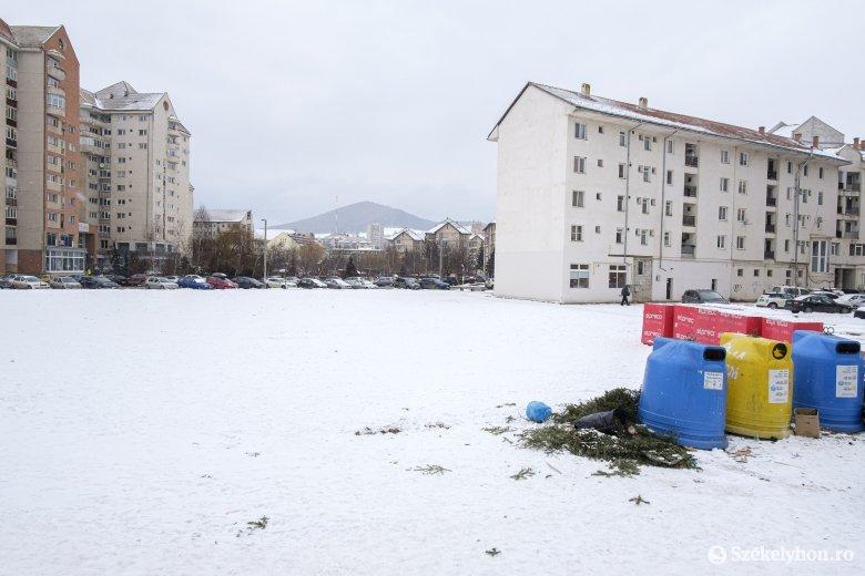 Üres marad egyelőre a nem hivatalosan kutyafuttatóként is használt csíkszeredai terület