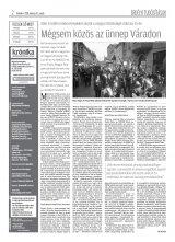 Krónika XX. évfolyam, 50. szám