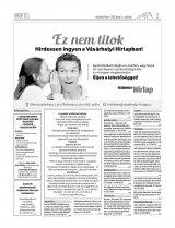 Vásárhelyi Hírlap XII. évfolyam, 110. szám