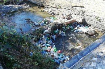 Ismét összefognak Gyergyószentmiklóson a patakmeder tisztaságáért