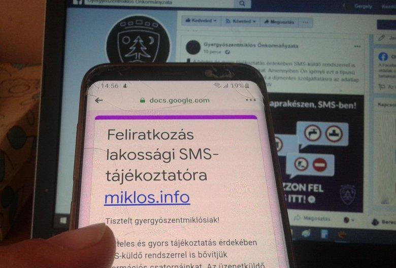 Miklós sms-ben jelez ha valami gond van a városban