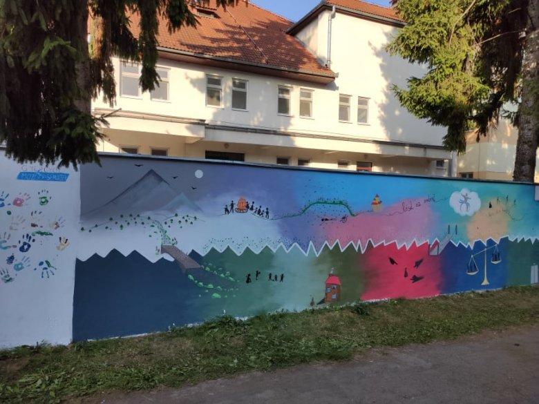 A mozgássérültek álmait festették a falra