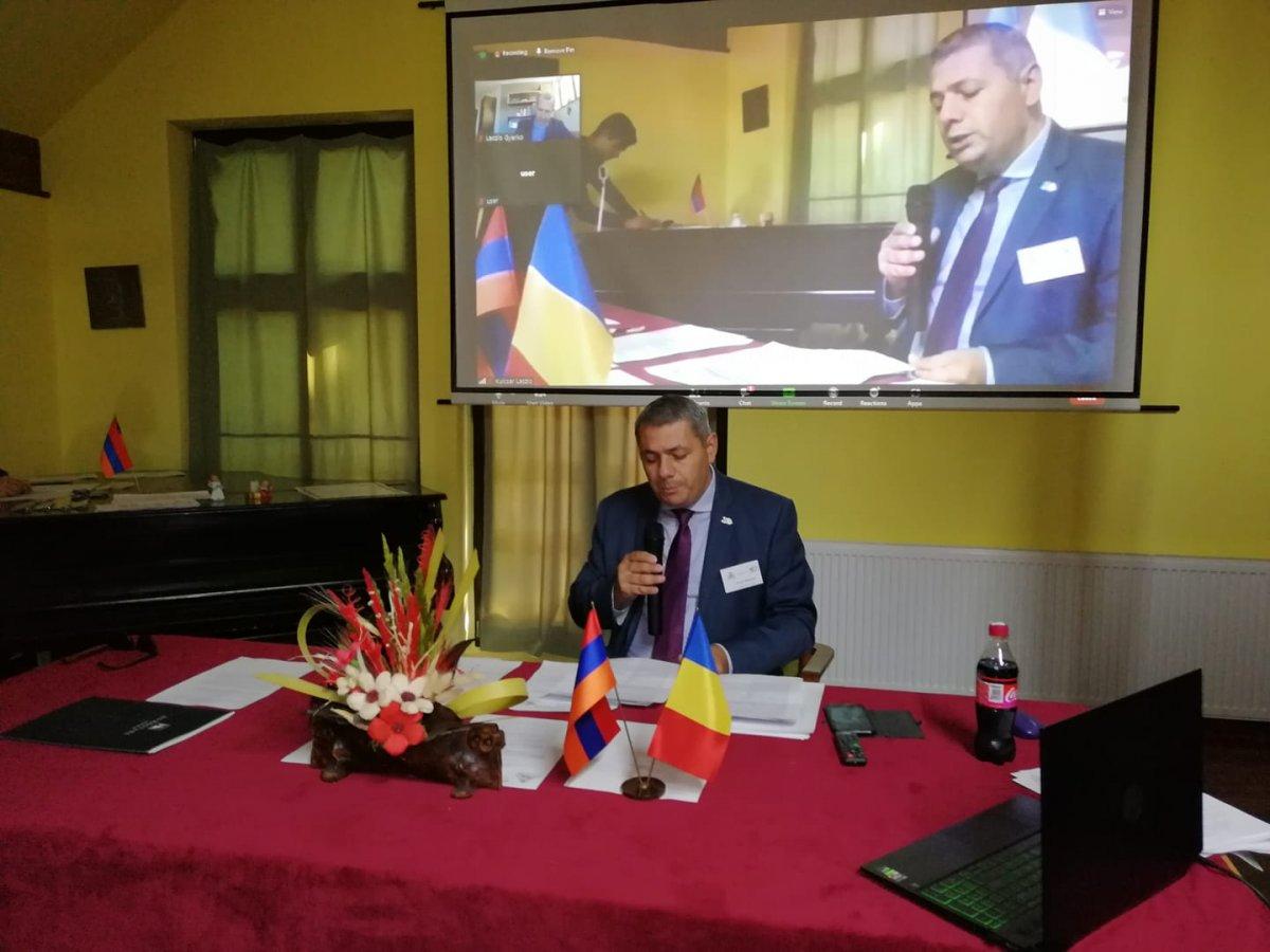Sergey Minasyan, Örményország nagykövete visszatérő vendége a fesztiválnak, ezúttal a konferencián is előadást tartott •  Fotó: Barabás Orsolya