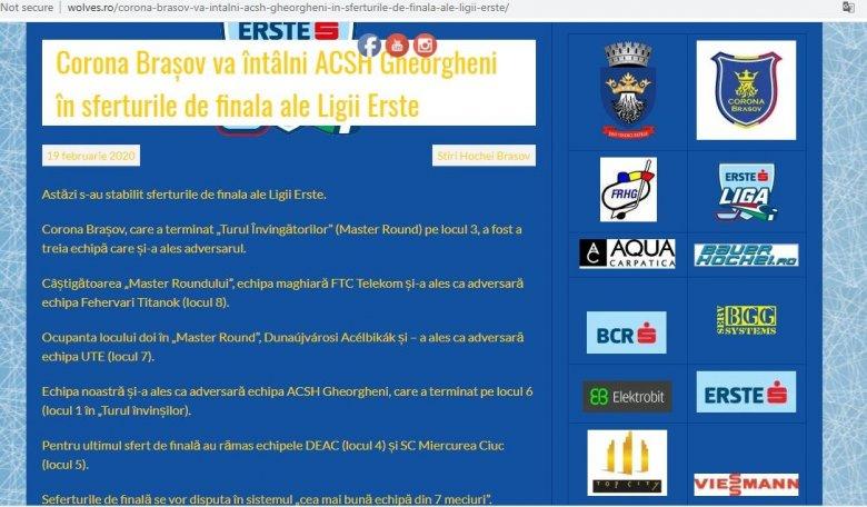 Brassó–GYHK és DEAC–Sportklub az Erste Liga negyeddöntőjében?