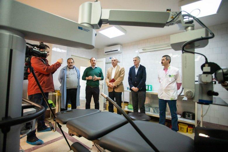 Korszerűsítették a sepsiszentgyörgyi kórház szemészeti osztályát