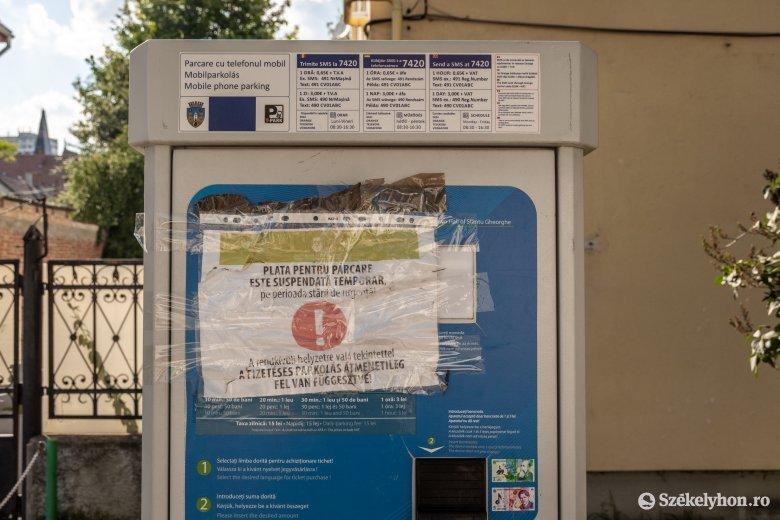 Hétfőtől ismét fizetni kell a parkolásért Sepsiszentgyörgyön