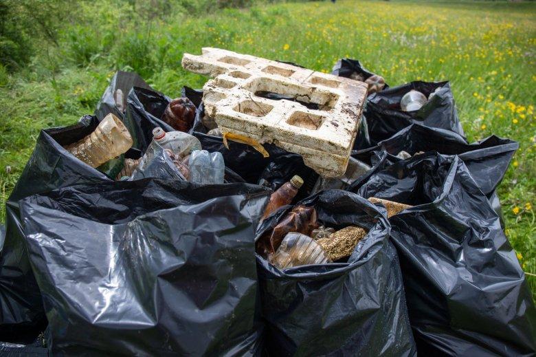 Több mint hat tonna szemetet gyűjtöttek össze az Olt partján
